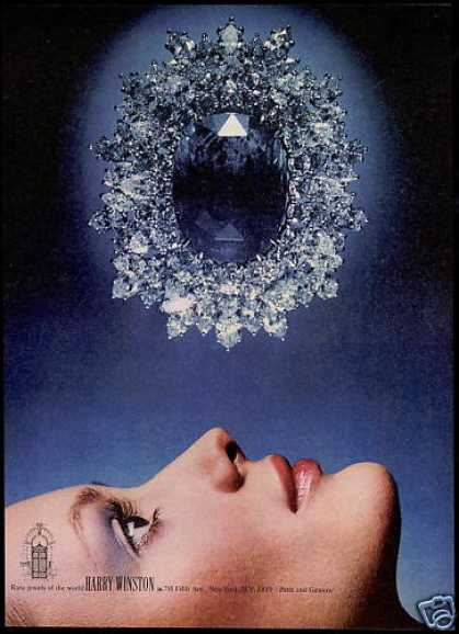 Harry Winston Blue Rare Jewels Jewelry Photo (1974)