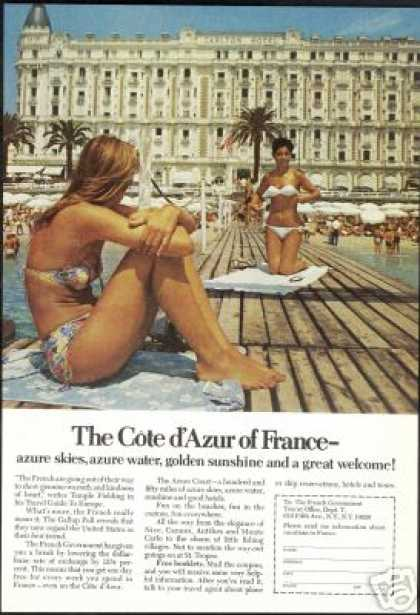 Sexy Women Photo Carlton Hotel France Vintage (1970)
