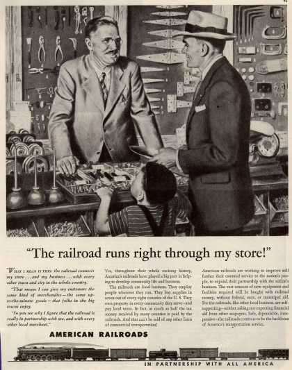 "American Railroads – ""The Railroad Runs Right Through My Store!"" (1946)"