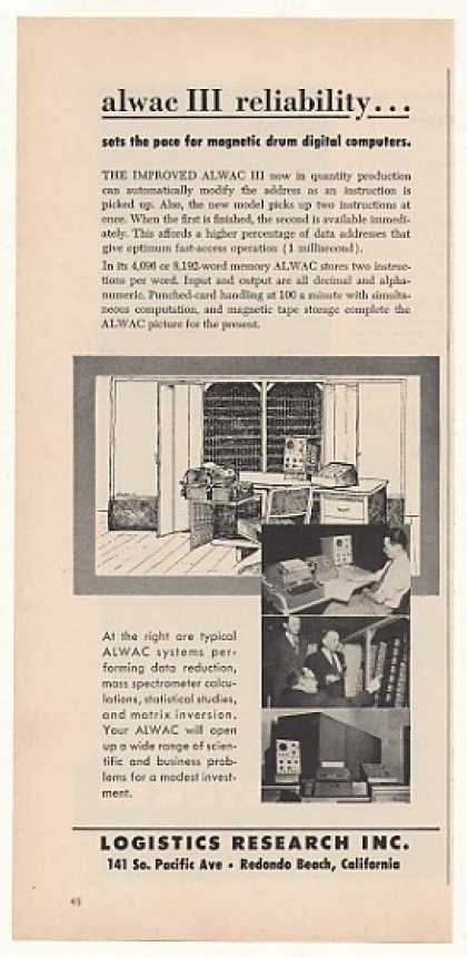 Logistics Research ALWAC III Digital Computer (1955)