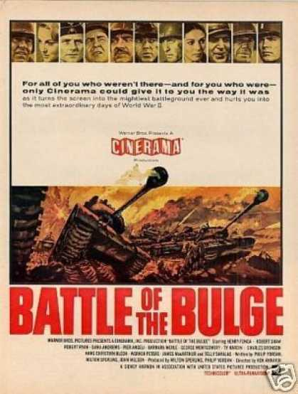 "Movie Ad ""Battle of the Bulge"" (1965)"