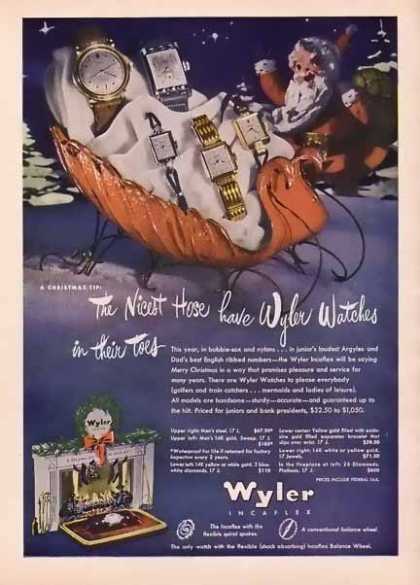 Wyler Incaflex Watches Christmas (1947)
