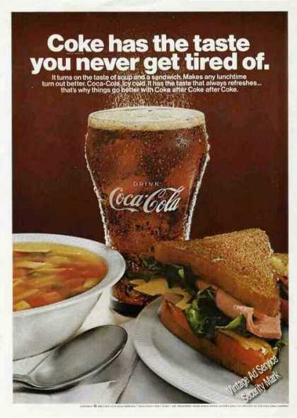 "Coca-cola ""Coke Has the Taste"" Soup & Sandwich (1967)"