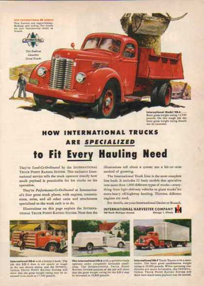 International Harvester – Fit hauling needs… – Sold (1949)