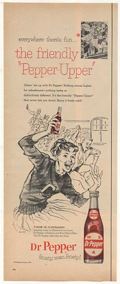Dr Pepper Cheerleader Now in Cleveland (1958)