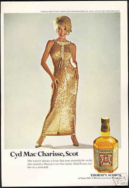 Sexy Cyd Charisse Photo Thorne's Scotch Vintage (1968)