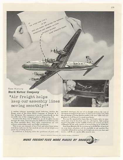 Ford Motor Co Air Freight Douglas DC-4 Aircraft (1948)