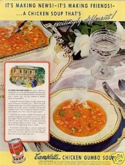 Campbell's Chicken Gumbo Soup (1942)