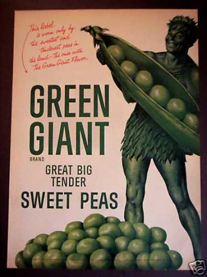 Original Green Giant Sweet Peas (1955)