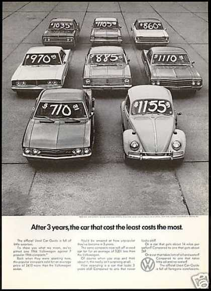 VW Volkswagen Bug Least Cost the Most (1969)