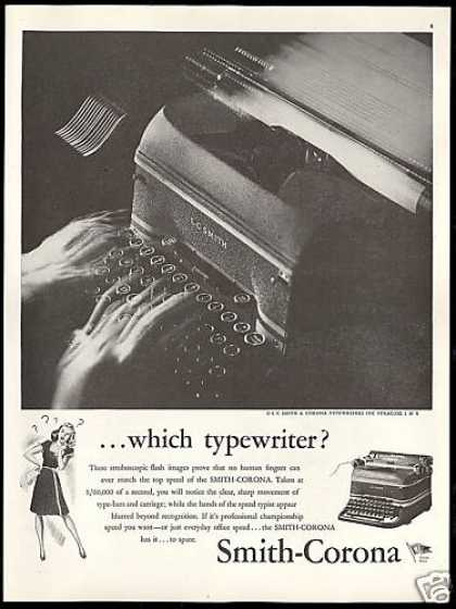 LC Smith Corona Typewriter Vintage (1945)