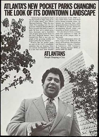 Atlanta Georgia Commerce Mayor Maynard Jackson (1976)