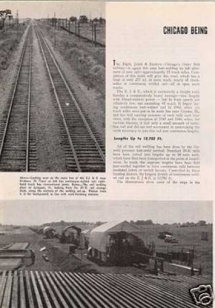 """Chicago Ringed With Welded Rail"" Article/ej&e (1948)"