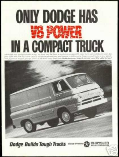 Dodge Cargo Van V-8 Power Truck Vintage Photo (1966)