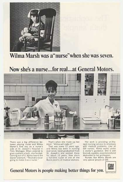 GM General Motors Nurse Wilma Marsh Photo (1967)