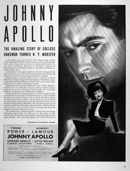 """Johnny Apollo"" (1940)"