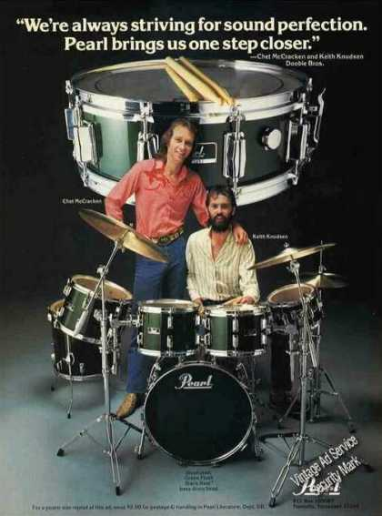 Chet Mccracken & Keith Knudsen Pearl Drums (1981)