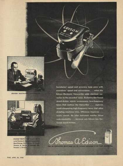 Thomas Edison Electronic Voicewrite (1948)