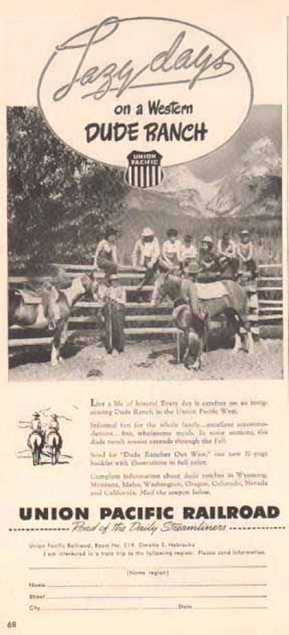 Union Pacific Railroad – Lazy Days Dude Ranch (1948)