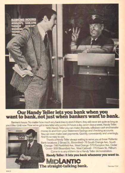 Midlantic Bank – Bank when you want (1976)