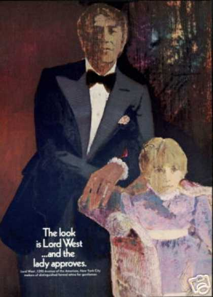 Lord West Formal Mens Clothes Fashion Art (1970)