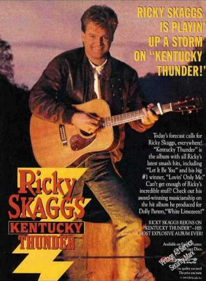 "Ricky Skaggs ""Kentucky Thunder"" Album (1989)"
