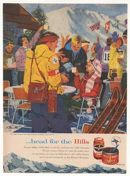 Hills Bros Coffee Squaw Valley Olympic Skiing (1960)