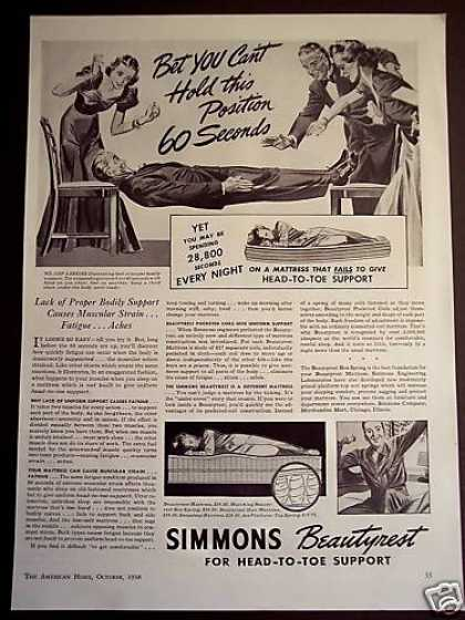 Simmons Beautyrest Mattress Proper Support (1938)