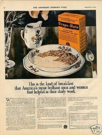 Grape-nuts Cereal Color (1926)