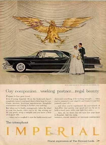 "Chrysler Imperial Car Ad ""Gay Companion... (1958)"