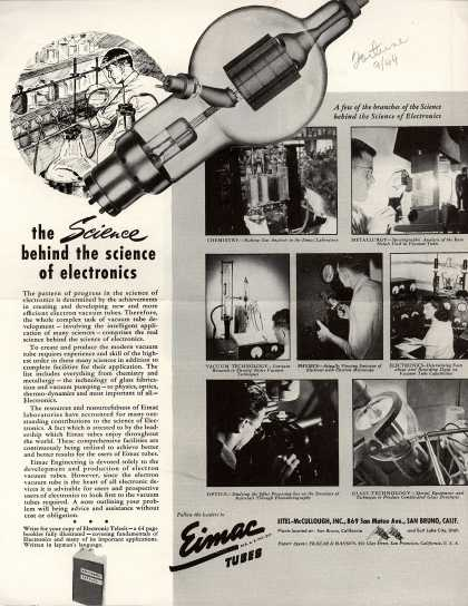 Eimac-McCullough's Eimac tubes – the Science behind the science of electronics (1944)