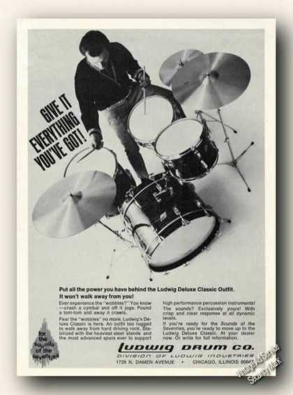 Ludwig Deluxe Classic Outfit Photo Drums (1971)