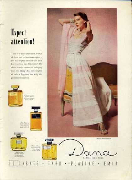 Dana Tabu 20 Carates Platine Emir Perfume (1952)