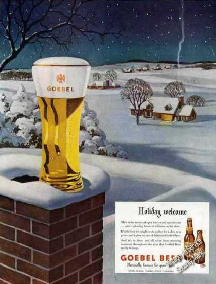 Goebel Beer Holiday Welcome Art (1948)