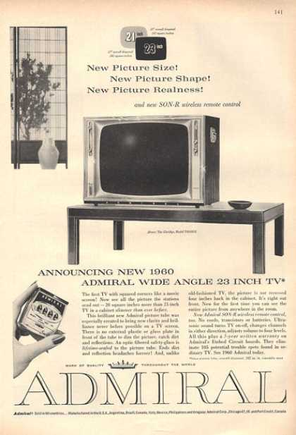 Admiral Television Tb Wide Angle (1959)