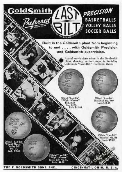 Goldsmith Last Bilt Basketballs/vol (1941)