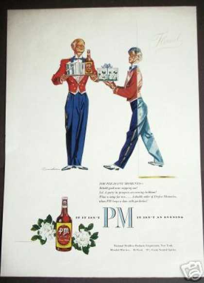 Gardenias & Pm Whiskey Bell Boy Art (1949)