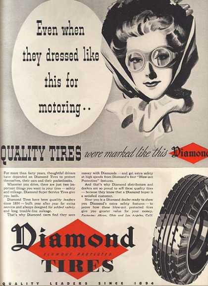 Diamond's Blowout Protected Tires (1957)
