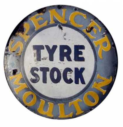 Spencer Moulton Tyres Enamel Sign