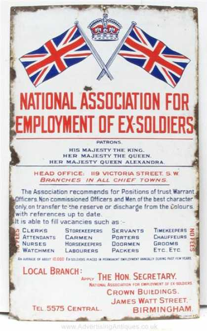 National Association of Ex-Soldiers Sign