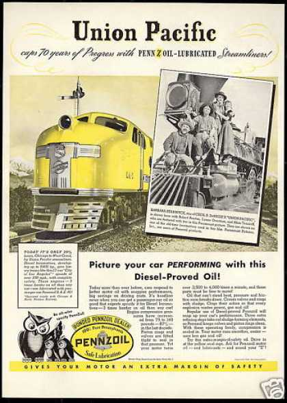 Union Pacific Overland Train Movie Pennzoil (1939)