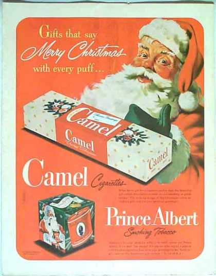 Camel Prince Albert Smoking Tobacco Christmas – Sold (1949)