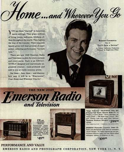 Emerson Radio And Phonograph Corporation's Emerson Radio and Television – Home... and Wherever You Go (1948)