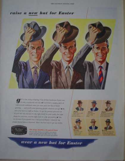 Hat Research Foundation Wear a new hat for Easter (1946)