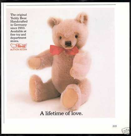 Steiff Teddy Bear Photo Lifetime of Love (1982)