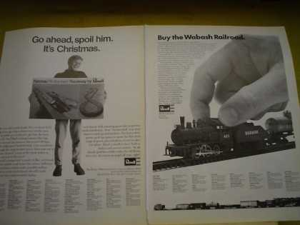 Revell Model Railroad Spoil Him Wabash railroad (1968)