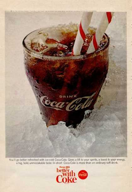 Coca Cola Coke Glass (1965)