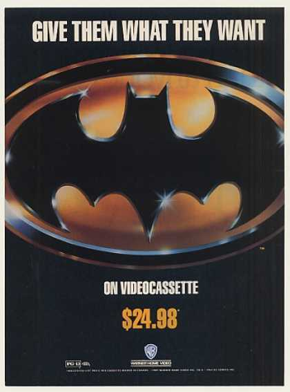 Batman Logo Movie Warner Home Video (1989)