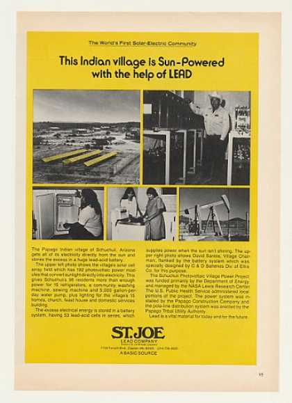 Papago Schuchuli AZ Solar Electric St Joe Lead (1980)