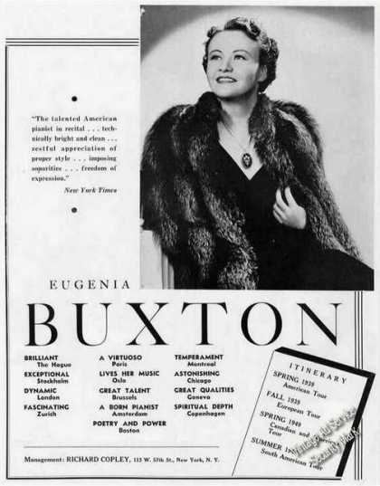 Eugenia Buxton Photo Pianist Booking (1939)